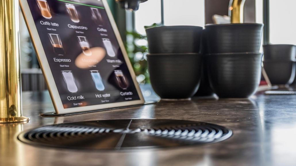 Indbygget kaffemaskine